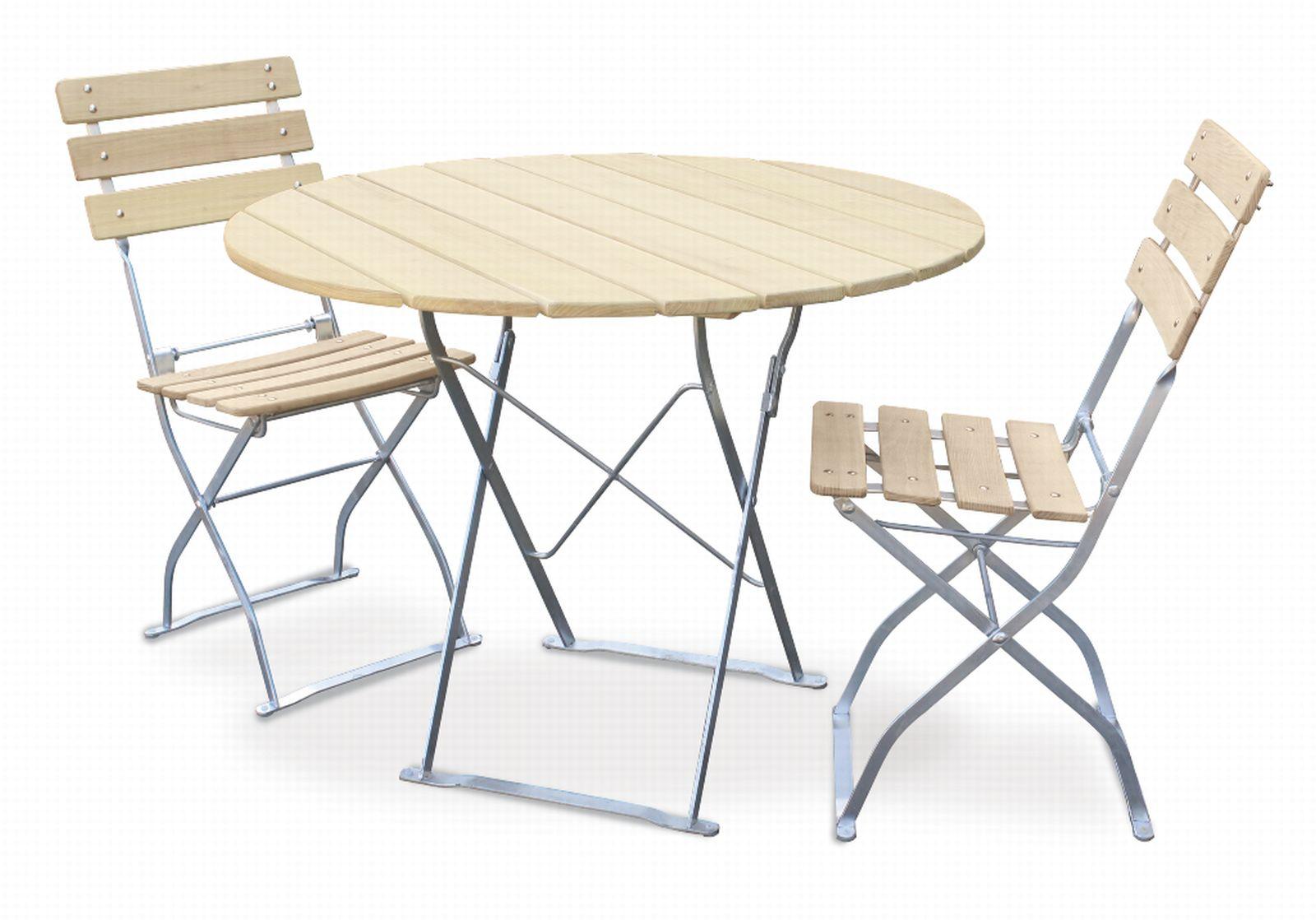 EuroLiving-Biergartengarnitur-Edition-Natur-1x-Tisch-Ø100-2x-Stuhl