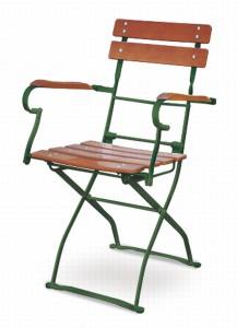 EuroLiving Biergartensessel Edition-Classic ocker grün