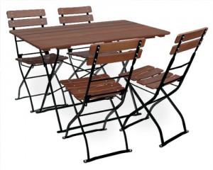 Classic kastanie schwarz - Garnitur Tisch 120x70 4x Stuhl