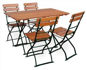 Classic ocker grün - Tisch 120x70 4x Stuhl
