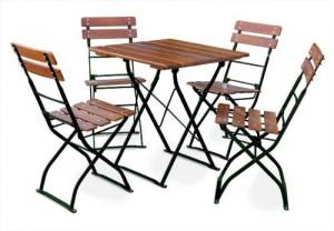 Classic ocker grün - Tisch 70x70 cm 4x Stuhl