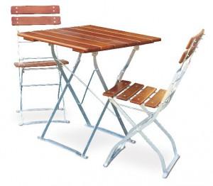 Classic ocker verzinkt - Set Tisch 70x70 2x Stuhl