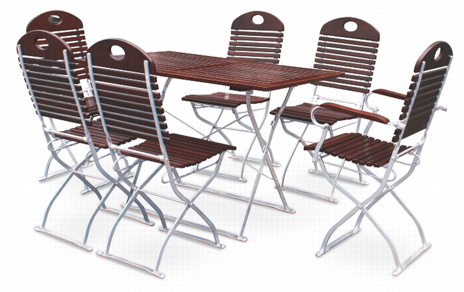 EuroLiving-Biergartengarnitur-Edition-exklusiv-kastanie-verzinkt-1x-Tisch-120x70-4x-Stuhl-2x-Sessel