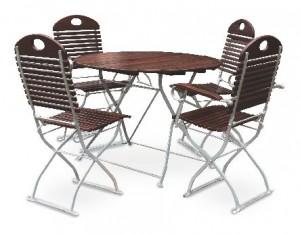 Exklusiv - Set Tisch Ø 2x Stuhl 2x Sessel