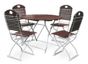 Exklusiv - Set Tisch Ø 4x Stuhl
