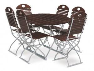 Exklusiv - Set Tisch Ø 6x Stuhl