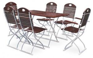 Exklusiv - Set Tisch 120x70 4x Stuhl 2x Tisch