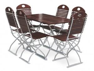 Exklusiv - Set Tisch 120x70 6x Stuhl