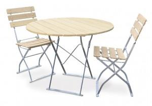 Natur - Set Tisch Ø 2x Stuhl