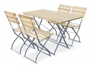 Natur - Set Tisch 120x70 4x Stuhl