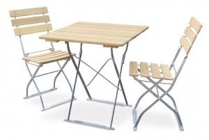 Natur - Set Tisch 70x70 2x Stuhl