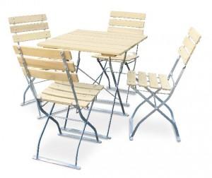 Natur - Set Tisch 70x70 4x Stuhl